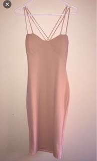 Nude/Brown Strappy Dress