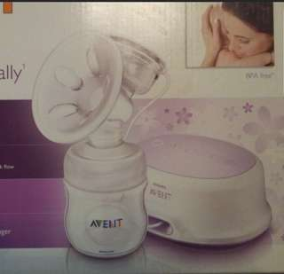 Avent Single Electric Breastpump w storage cups