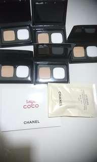 Lot 7 Chanel samples lip color bb cream foundation