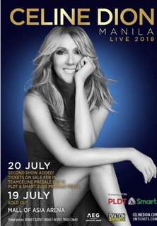 Discounted celine dion tickets