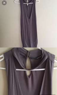 Grey Boohoo Dress