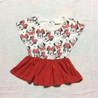 Minnie Mouse Peplum Top