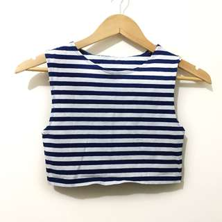 (New) Striped cropped top