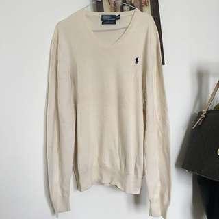 Polo Ralph Lauren White Jumper Sweatshirt