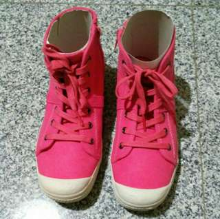 Pink Ankle Sneakers