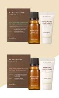 Innisfree hair trial kit
