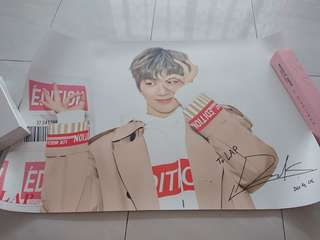 Ready Stock Wanna One Kang Daniel LAP Double Sided Big Poster Type C