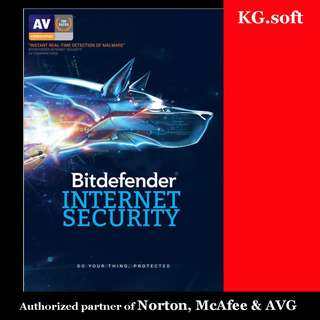 🔥Bitdefender Internet Security for 1PC or 3PCs for 1-year (+ 3 months promo)🔥