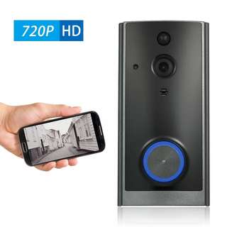720P WiFi Visual Intercom Door Phone 2-way Audio Video Doorbell Support Infrared Night View PIR Android IOS APP Remote Control