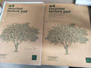 A4 recycled lecture pad