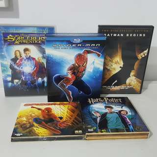 Blu Ray Spider-man Trilogy with DVD and VCD