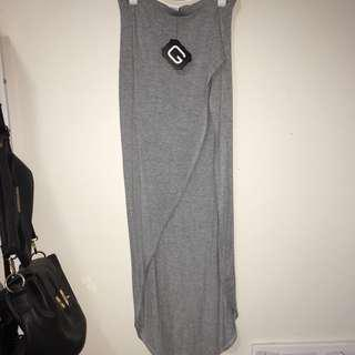 Glassons grey slit skirt