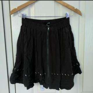 Ladakh Zip Through Khaki Skirt