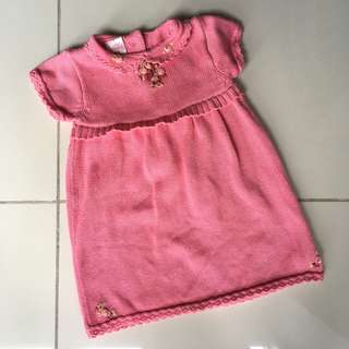 Poney Sweet baby girl knitted dress