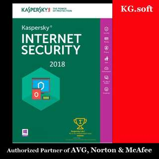 🔥Kaspersky Internet Security 2018 for 1PC 1-year🔥
