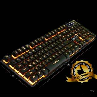 🚚 (New) Yellow Backlit with Character Glow Keyboard for Gaming YE83