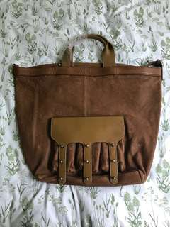 Alexander Wang 💯Real  brown leather large size bag