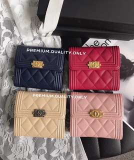 Boutique Quality Chanel Boy Wallet