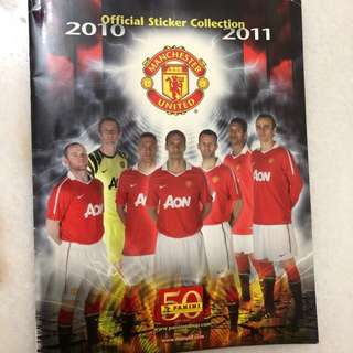 Manchester United 2010-11 collection album + stickers