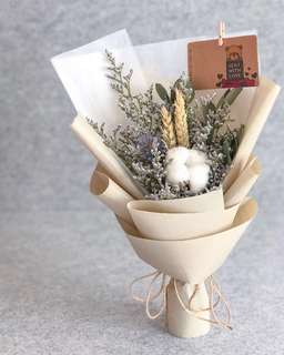 (HB-023-S-V1) Single Stalk Cotton with Dried Mix Bouquet