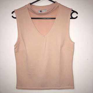 Temt pink choker top
