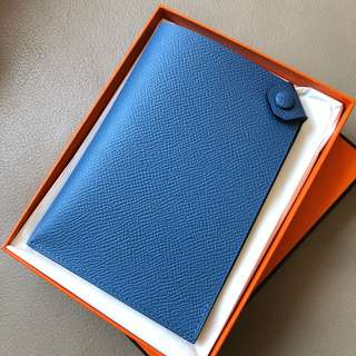 Hermes 7Q藍 epsom passport holder 護照套