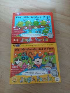 Music for kids puzzle with cd
