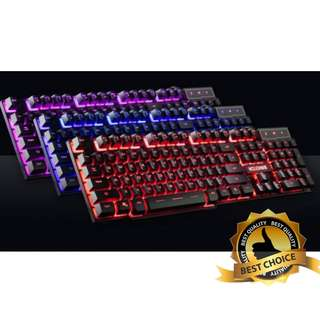 🚚 (New) Triple Colour Keyboard for Gaming TR92