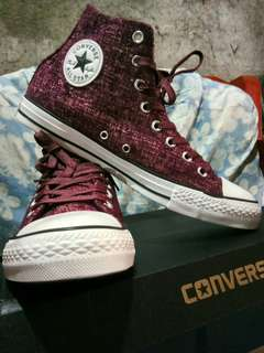 CONVERSE CHUCK TAYLOR, all star sparkle knit hi