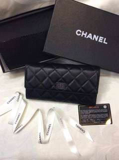 Chanep Quilted Flap Wallet