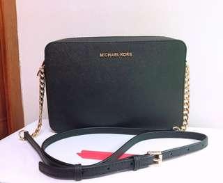 全新 美國購入 正品 Michael Kors MK 防刮牛皮 防刮皮革 方包 斜背包 相機包