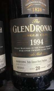 GlenDronach 1994 20yr whisky Not macallan Laphroaig