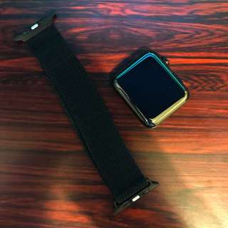 Apple watch s0 stainless steel black 42mm