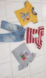 Tshirts and 1 jeans