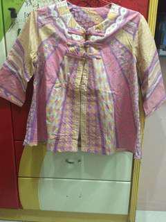 Baju Pink Batik Lengan Panjang