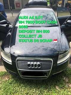 AUDI A6 2.0T RM 7800 BODY CASH 2008 DEPOSIT RM 500 COLLECT JB STATUS SG SCRAP 🇸🇬