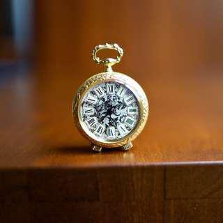 Bueche Girod Swiss-made 17-Jewel miniature alarm clock