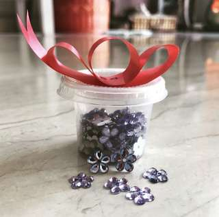 purple flower jewels