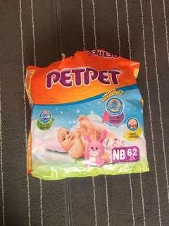 PETPET Newborn Diapers 25 pieces