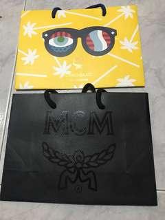 Authentic MCM Paper Bag: 2 design