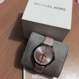 Michael Kors Ladies' Portia Sable IP and Blush Croco Leather Watch