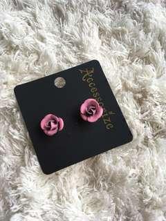 玫瑰花 Earrings