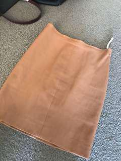 Kookai leather Capri skirt sz 36