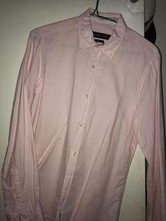 Zara mens long sleeved polo XS
