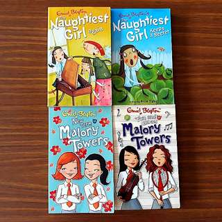 4 for $10: By Enid Blyton: New Term at Malory Towers; Fun & Games at Malory Towers; Naughtiest Girl Again; Naughtiest Girl Keeps A Secret