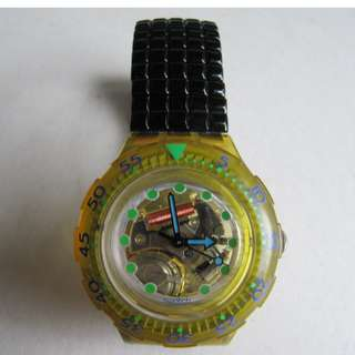 勿壓價、自重。中古、SWATCH SCUBA QUARTZ WATCH-SWISS MADE -NO BARGAIN