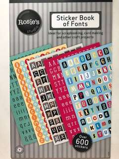 Sticker Book of Fonts
