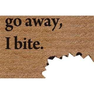 🚚 In Stock - Go Away I Bite Home Decor Door Mat Living Room Rug Carpet
