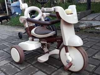 Sepeda Anak IIMO 2 Brown Tricycle