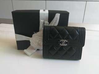 Chanel Lambskin Wallet ( Black )